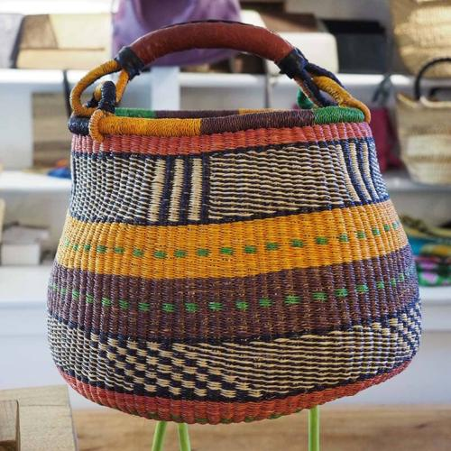 Panier Bintou marron et orange